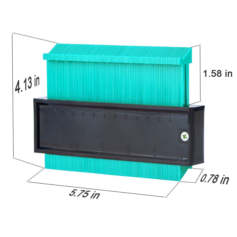 Jauge de Contour Duplicateur 250 mm Outil de duplicateur de Plastique Contour Jauge de Profil pour jauge de profilage pour conduits en Plastique Cadres circulaires tuyaux de bobinage