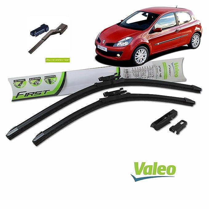 Valeo Juego de 2 escobillas de limpiaparabrisas Especiales para RenaultCLIO 3 | 600/400 mm |: Amazon.es: Coche y moto