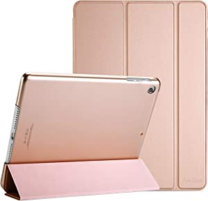 """ProCase iPad Mini 1 2 3 Case(Old Model A1432 A1490 1455), Slim Lightweight Stand Cover with Translucent Frosted Back Smart Case for 7.9"""" Apple iPad Mini, Mini 2, Mini 3, with Auto Sleep/Wake–Rose Gold"""