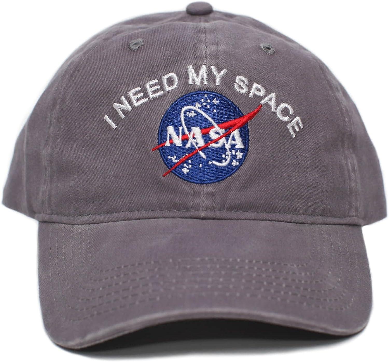 Posse Comitatus NASA I Need My Space Pigment Dye Embroidered Hat Cap Unisex Adult Multi