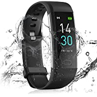 24HOCL Smart Watch Fitness Tracker with Temperature Measurement Heart Rate Sleep Monitor, Waterproof Sports Wristband…