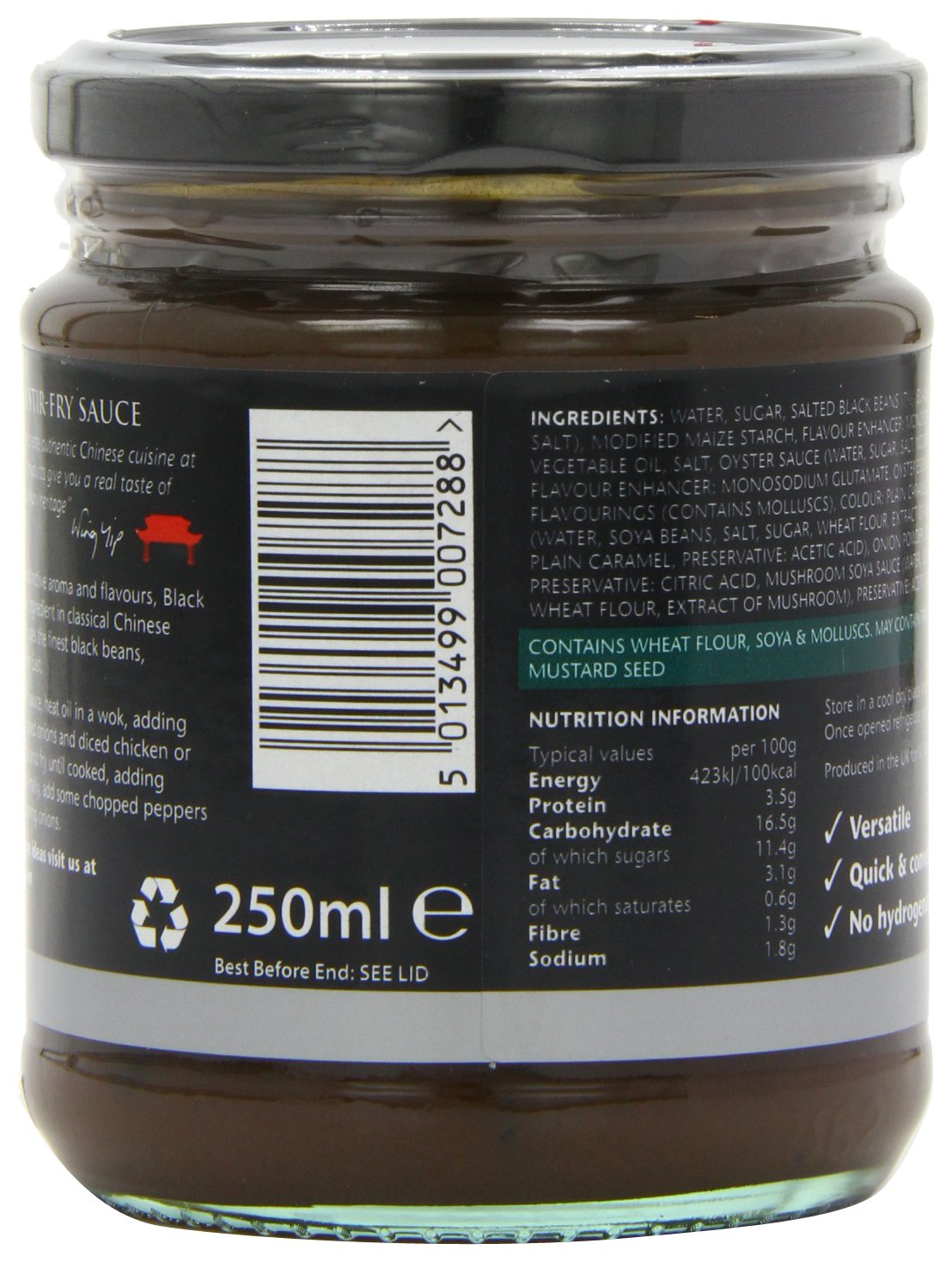 Amazon.com : Wing Yip Stir Fry Sauce - Black Bean (250ml) - Pack of 6 : Grocery & Gourmet Food