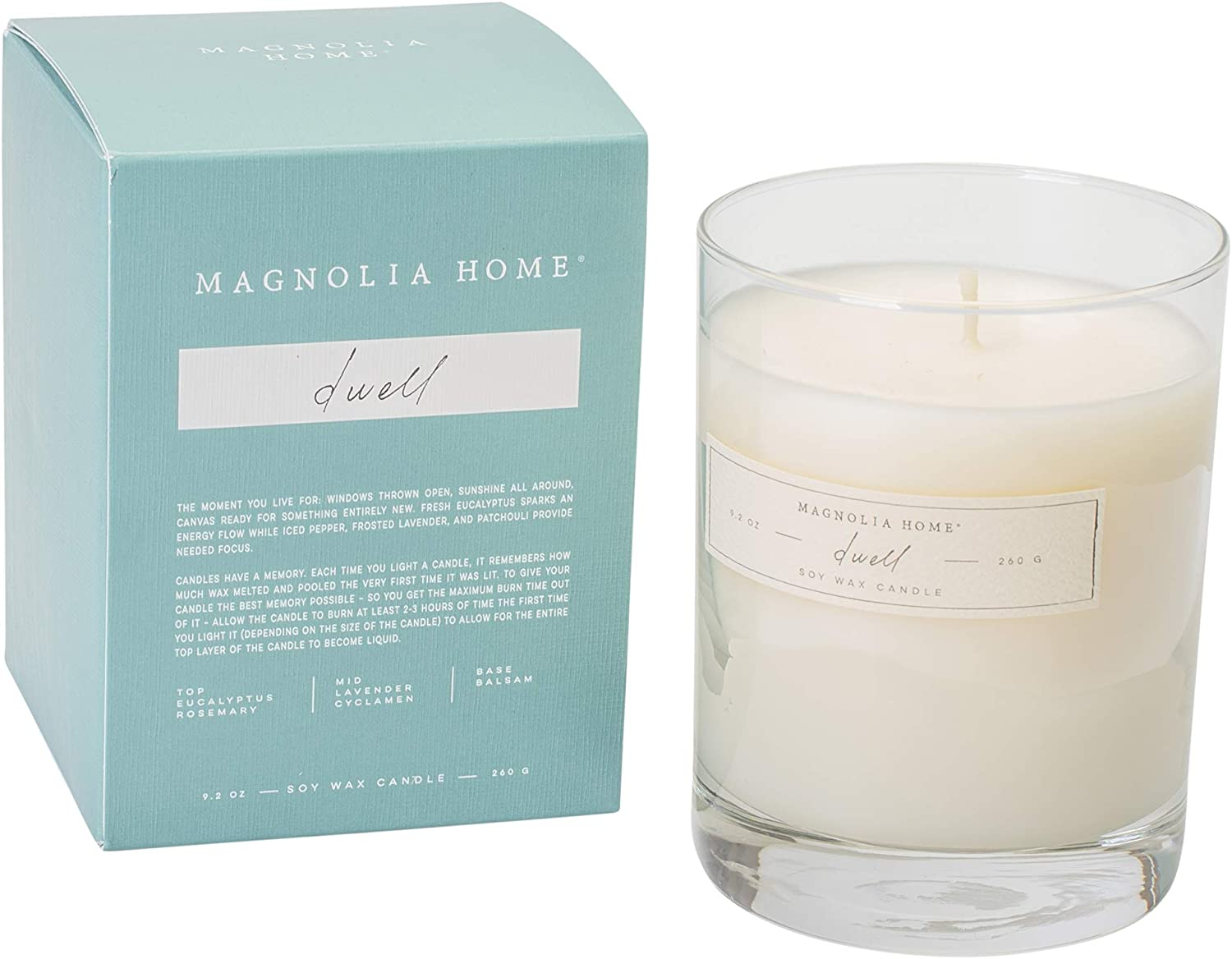 Dwell Scented 9.2 ounce Soy Wax Boxed Glass Candle by Joanna Gaines - Illume