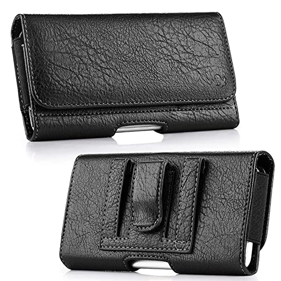 9a8e13bf6842 Luxmo Wallet Series Case for Nokia 2V (Verizon) - PU Leather Phone Belt  Holster