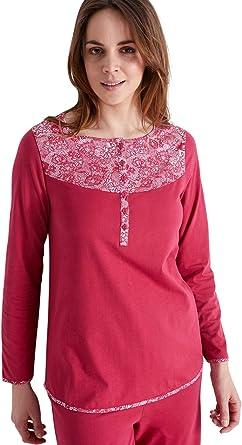 Balsamik - Pijama de Malla de algodón para Mujer Frambuesa 38/40 ...