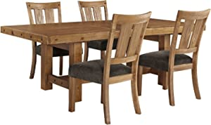 Ashley Furniture Signature Design - Tamilo 5-Piece Dining Room Set - Includes Rectangle Extension Table & 4 Side Chairs