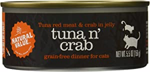 Natural Value Red Meat Tuna in Jelly Canned Cat Food