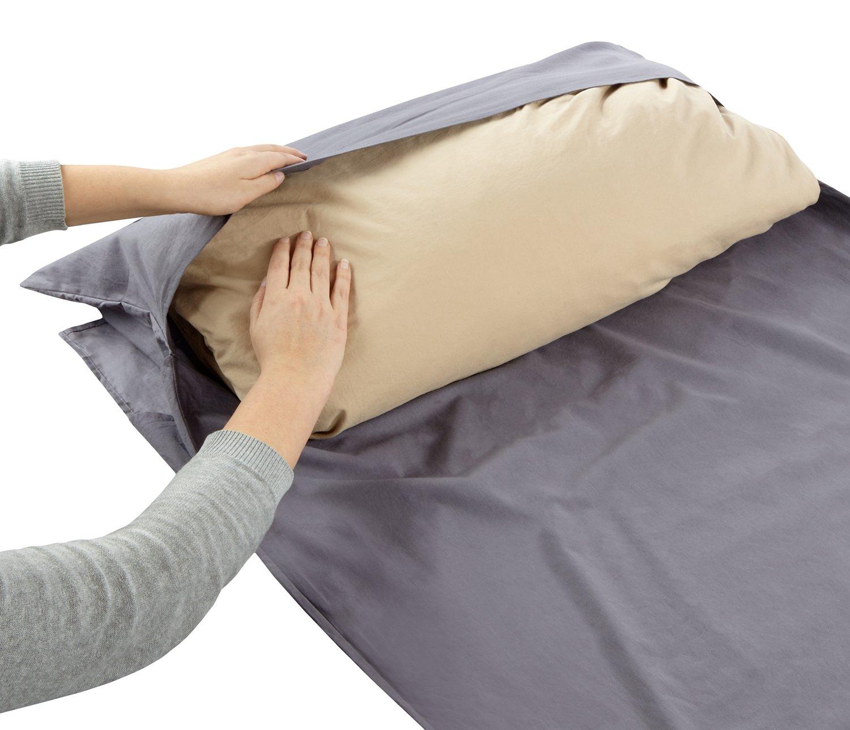 freigeist cabaña Saco de dormir de algodón ligero, saco de dormir interior, saco de dormir (con cremallera, interior Dormir (algodón, hotel Saco de dormir, ...