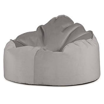 Lounge Pug®, Pouf Poire, Petite Mammouth\', Velours Argent: Amazon.fr ...