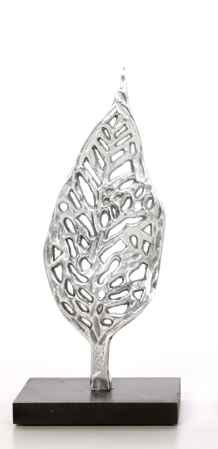 Hosley Decorative Tabletop Leaf Pedestal- Small. Ideal Gift for Wedding, Home, Party Favor, Spa, Reiki, Meditation, Bathroom Settings O9