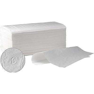 Toalla Secamanos Papel zig zag laminadas SUMICEL, Caja de 3000 unidades