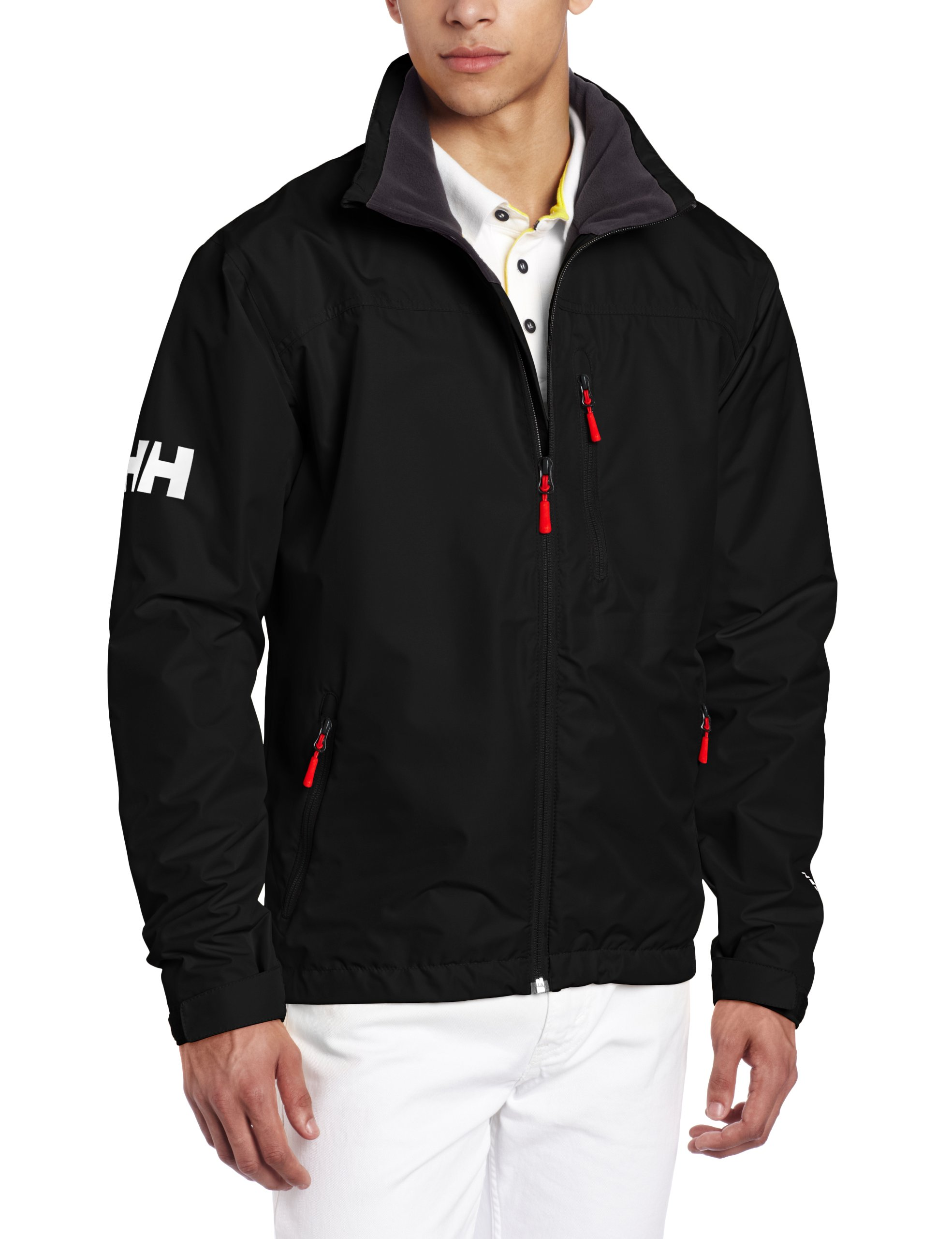 Helly Hansen Crew Midlayer Jacket, Chaqueta Impermeable para Hombre, Color Negro (Black), Talla L