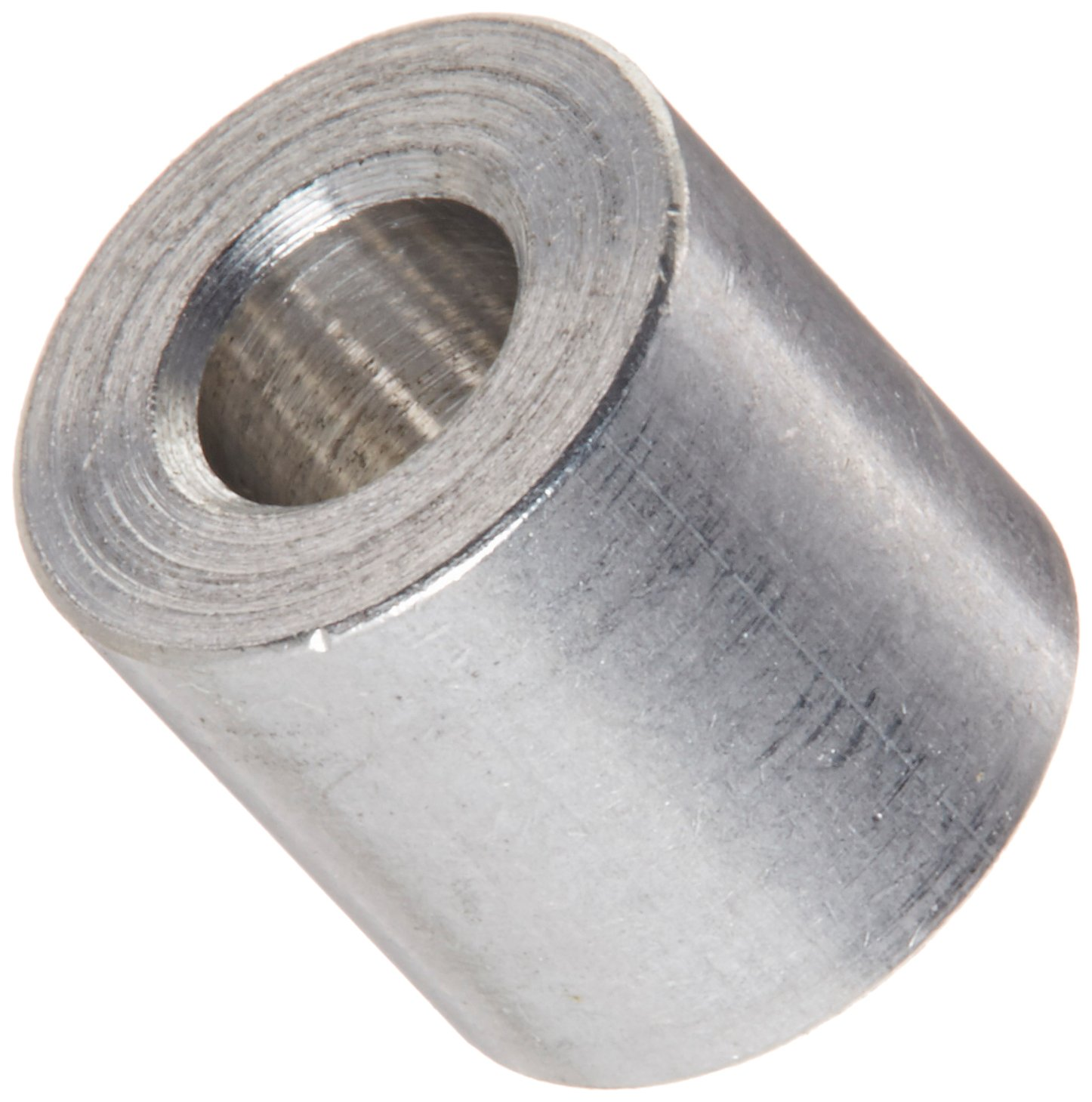 Pack of 25 0.115 ID 5//16 Length #4 Screw Size Round Spacer Aluminum Plain Finish 1//4 OD