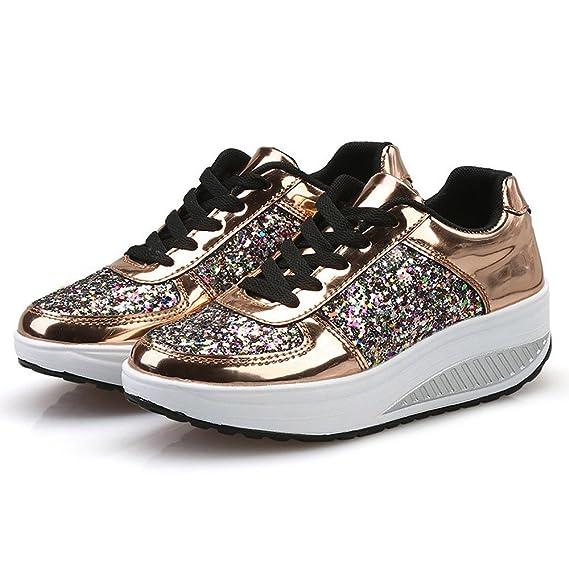 Zapatos Mujer,VECDY2019 Moda Zapatillas Mujeres Cuñas Zapatillas ...