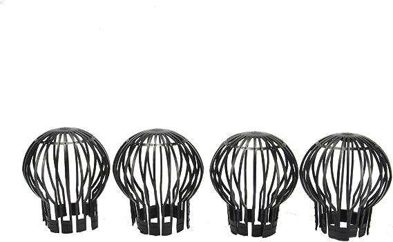 07124 schwarz Windhager Dachrinnen-Fallrohr Abdeckung Fallrohrschutz Laubschutz f/ür Regenrinne Dachrinnenschutz Rinnensieb