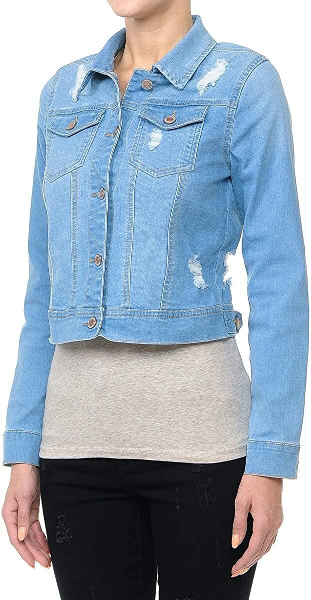Womens Plus//Junior Size Denim Jackets Long Sleeve Jean Coats