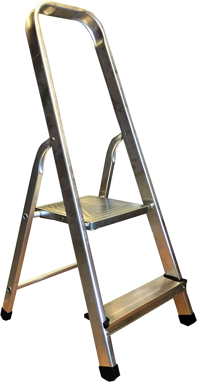 Homelux 825000 Escalera Domestica Peld.08 cm, 2 Peldaños, 2.5 kg: Amazon.es: Jardín