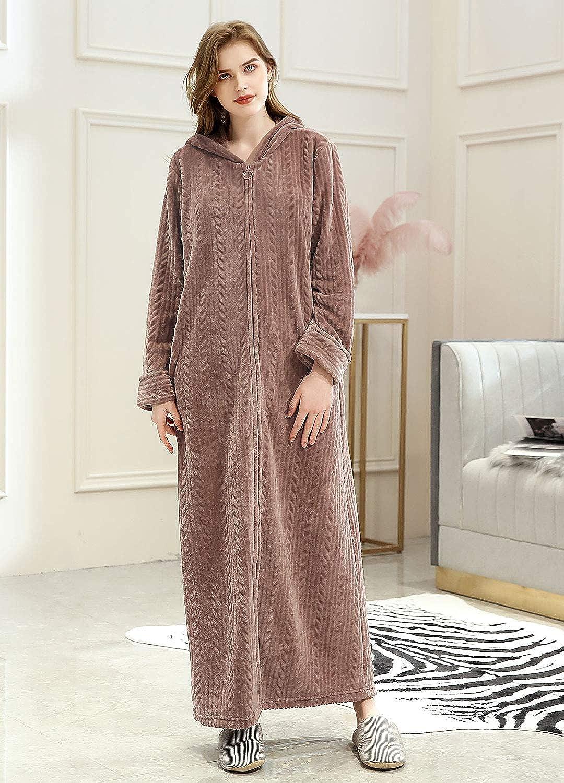 ZAKASA Luxury Dressing Gown Mesdames Robe Super Douce avec /À Capuche en Peluche Peignoir pour Plusieurs Couleurs et Tailles