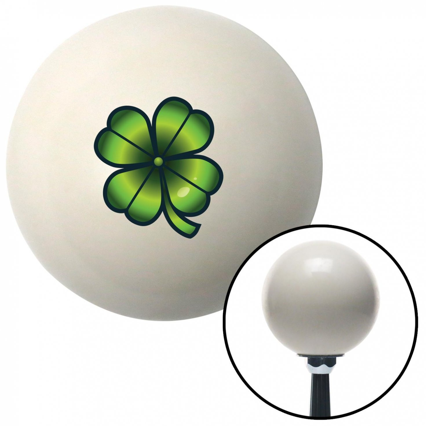 Slots Clover American Shifter 42406 Ivory Shift Knob with 16mm x 1.5 Insert