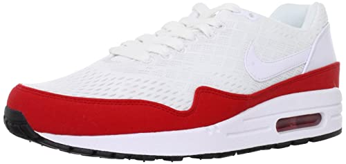 Nike Men s Air Max 1 EM White White-University Red 554718-161 Shoe b124985e00