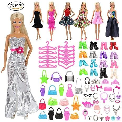 3d2088f8332 Amazon.es  Miunana 75x   5 Vestidos + +10 Zapatos + 10 Bolsas + 10 ...