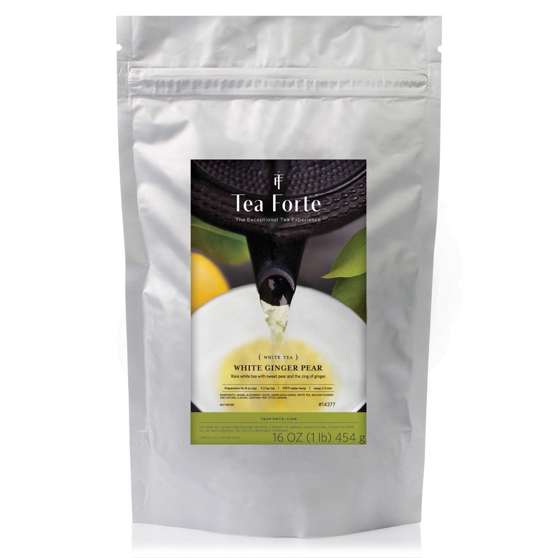 Tea Forté ONE POUND POUCH, Loose Bulk Tea - White Ginger Pear White Tea