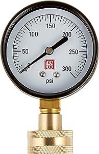 Eastman 45169 Water Pressure Test Gauge, Brass