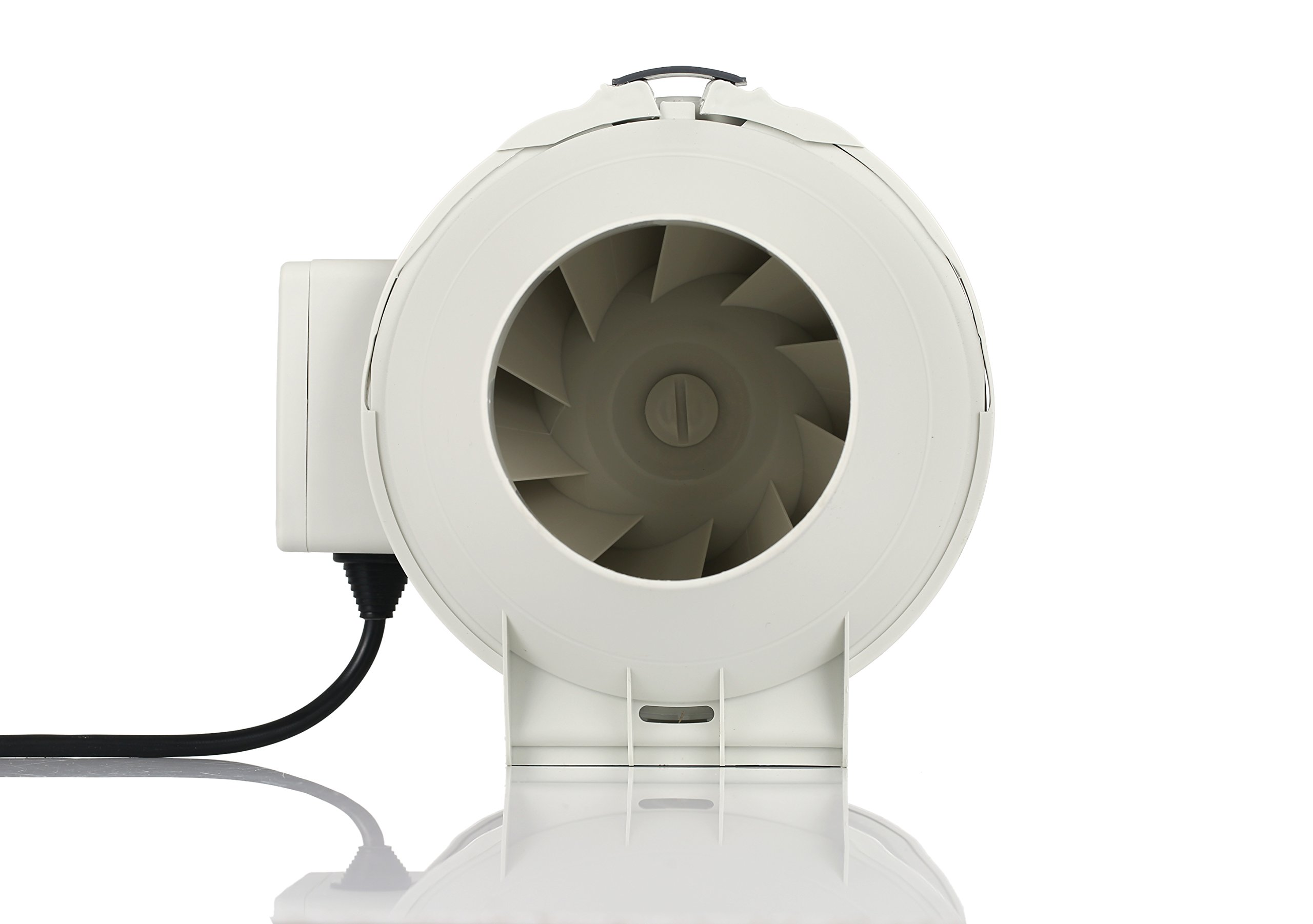 Growgarden 2 speed controlled 100mm 4 inch mixed flow grow room inline duct fan inline booster ventilation fan with 150CFM and low noise level