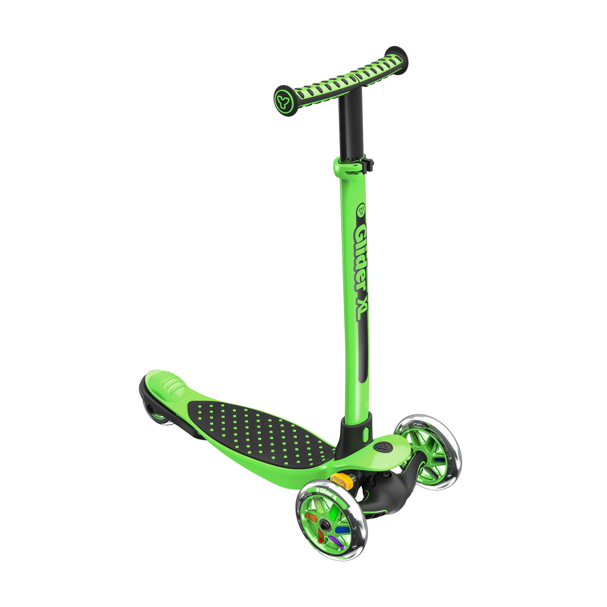 Yvolution Y Glider XL Kids Kick Scooter (green)