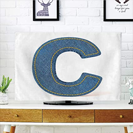 Amazon.com: iPrint LCD TV dust Cover,Letter C,Alphabet Sign Writing ...