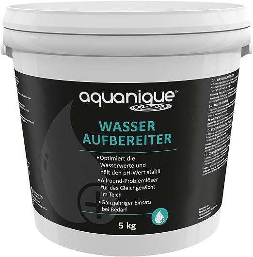 Aquanique tratamiento del agua 5 kg, para estanques, suficient ...