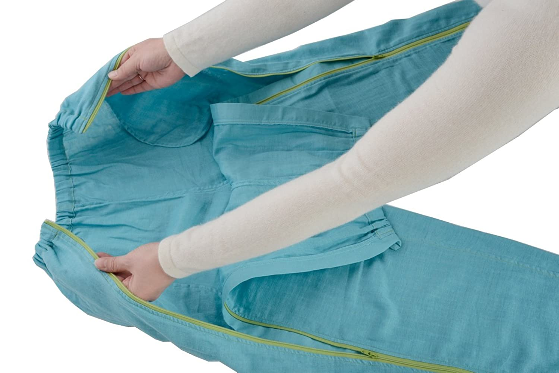 【ズボン2枚セット】入院介護に前開きWジップパジャマ 『点滴したまま着がえるパジャマ』 B0714MBXX7 Sサイズ×2枚