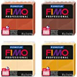 4 Bl/öcke 42 g dunklefarben Staedtler 8030 AMZ 05 Fimo Kids Modelliermasse