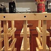 Amazon Com 40 Bottle Wooden Wine Rack Unfinished Pine