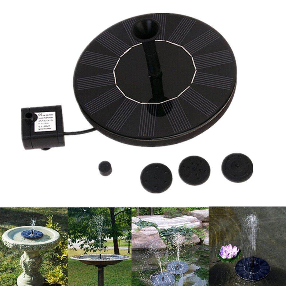 dream_light Solar Fountain, 1.4W Outdoor Solar Powered Water Pumps Panel Kit Watering Submersible Pump For Bird Bath, Pond, Pool, Garden, Fish Tank, Aquarium, Garden and Patio by dream_light