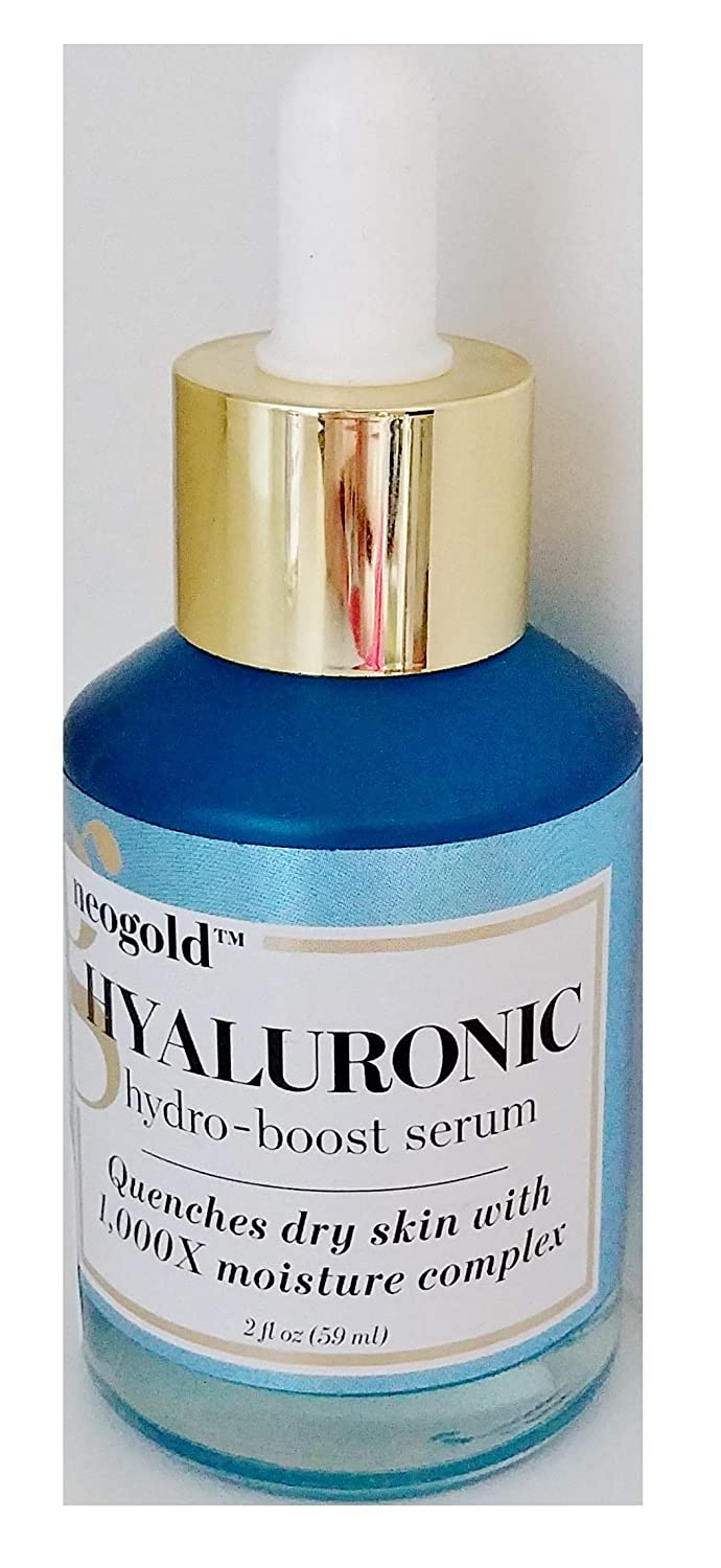Neogold Hyaluronic Hydro-Boost Daily Face Serum - Quenches Dry Skin With 1000X Moisture Complex