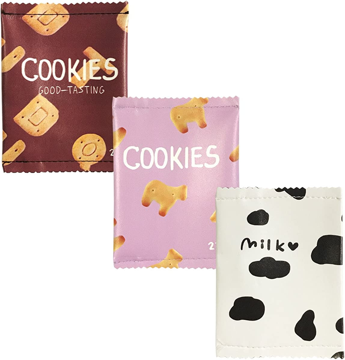 Wrapables Fun Foods Coin Pouch Mini Wallet (Set of 3)