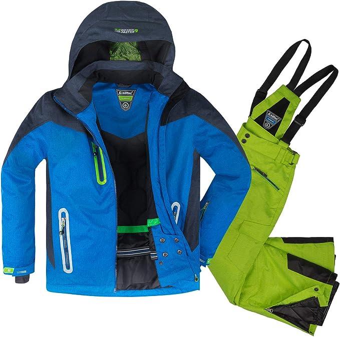 Killtec Kinder Skianzug  2 Teile Skijacke Skihose blau pink wasserdicht