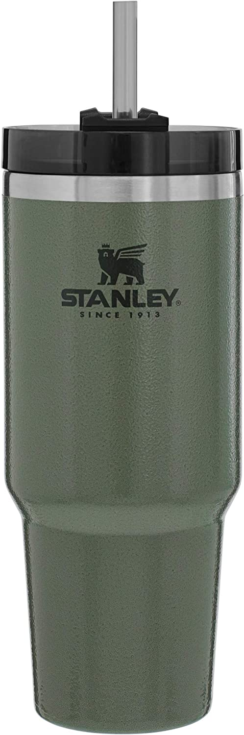 Stanley Adventure Reusable Vacuum Quencher Tumbler with Straw, Leak Proof Lid, Insulated Cup, Maintains Heat for up to 5.5 Hours, Cold for 9 Hours, and Ice for 40 Hours - 20, 30, 40oz