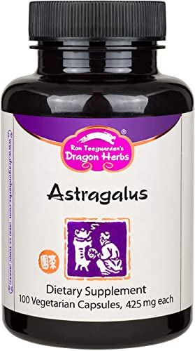 Dragon Herbs Astragalus - Dietary Supplement - 425 mg -- 100 Vegetarian Capsules