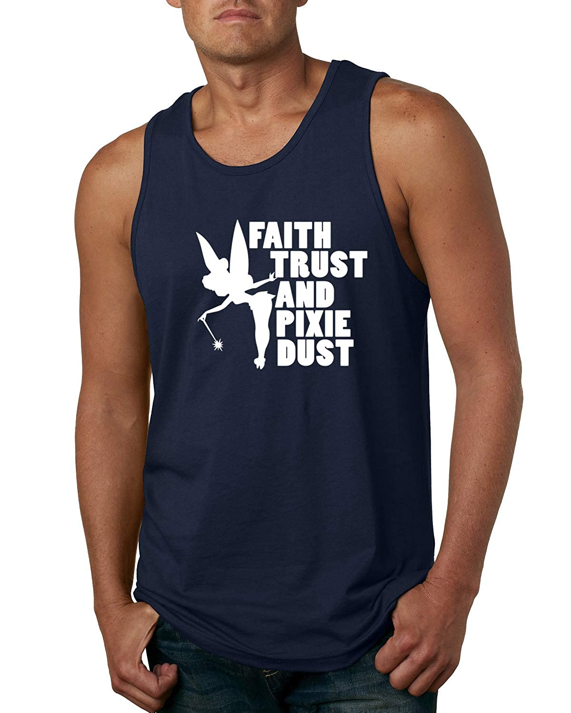 Mens Fashion Graphic Tank Top Wild Bobby Faith Trust Pixie Dust Cute Funny Fairy