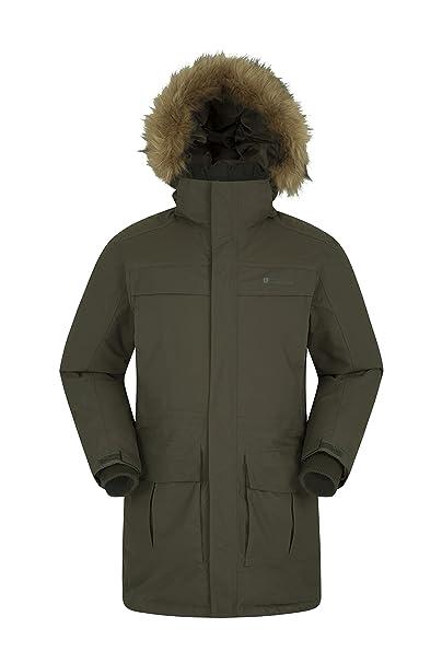 Mountain Warehouse Chaqueta Antarctic Extreme Down para Hombre - Cintura Ajustable, Abrigo Impermeable, Abrigo Transpirable y de Secado rápido para ...