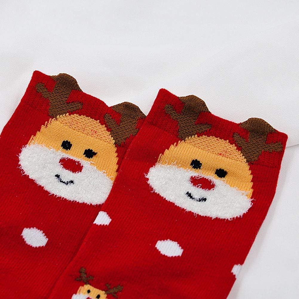 Calze con Babbo Natale LOFIR Calzini natalizi per bambini 5 paia Calze di natale Calzini per bambini in cotone per bambine//bambini 2-11 anni taglia 20-34