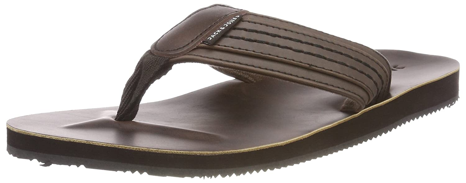 Jack & Jones Jfwbob Leather Sandal Java, Chanclas para Hombre