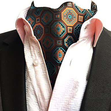 YCHENG Moda Hombre Pañuelo Jacquard Ascot Paisley Corbatas ...