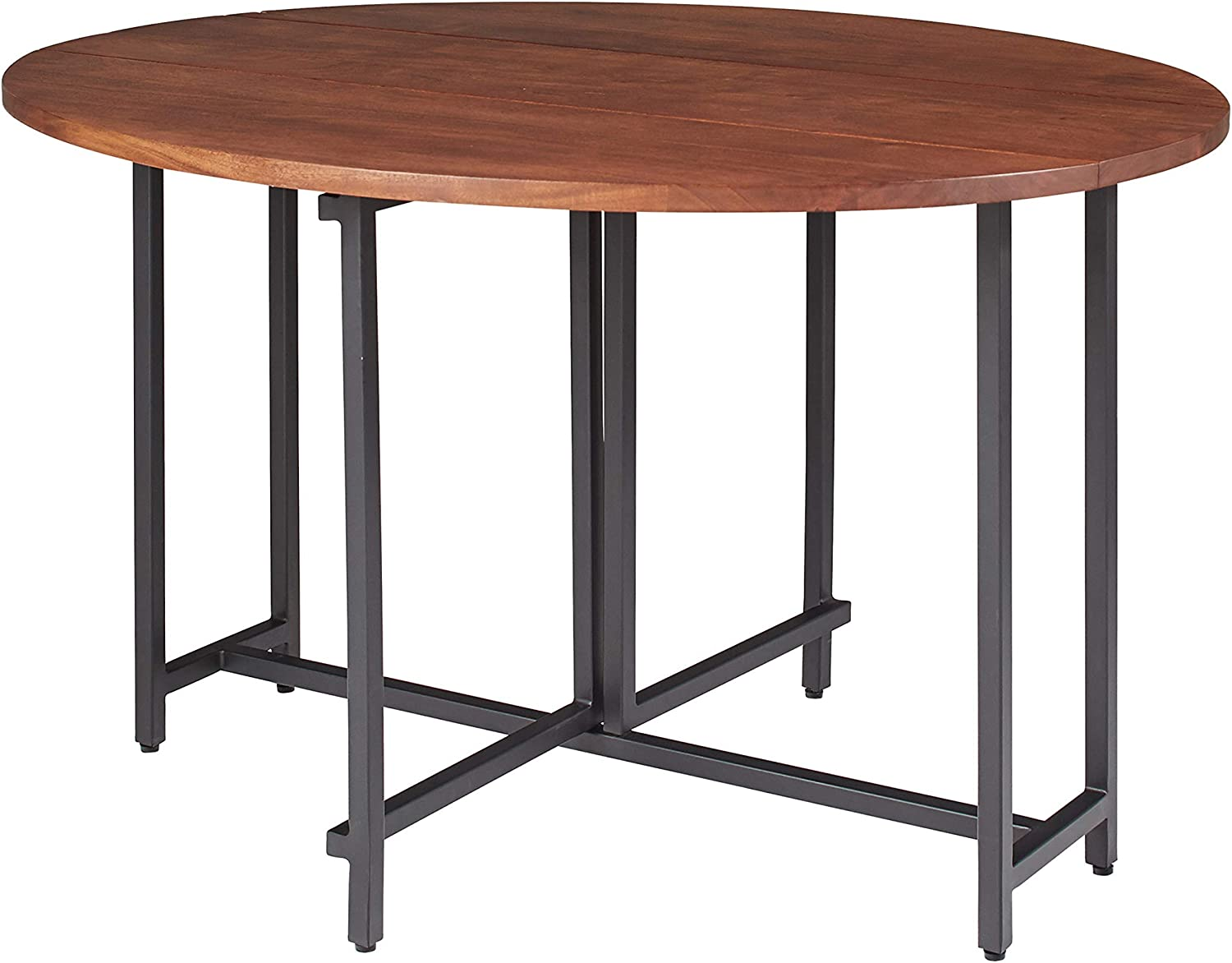 Coaster Home Furnishings Bridgeport Oval Two Drop Leaves Warm Brown Dining Table