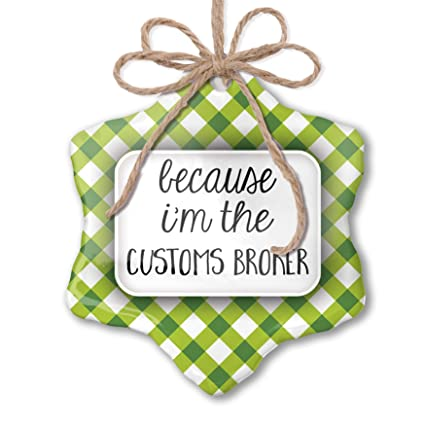 Amazon com: NEONBLOND Christmas Ornament Because I'm The