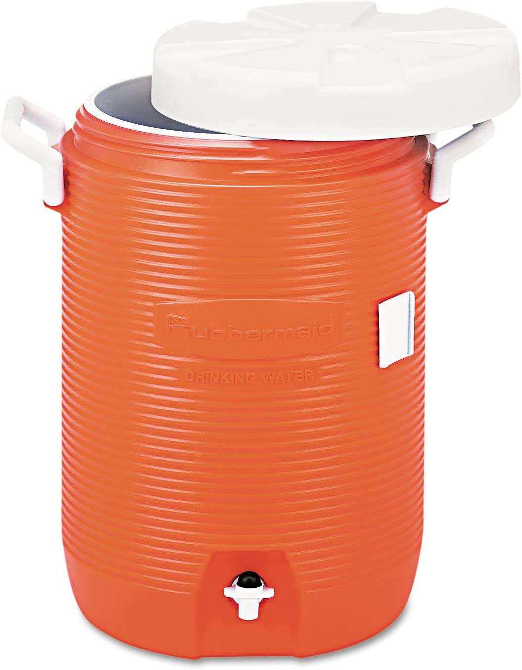 Rubbermaid Commercial 1840999 Insulated Water Cooler, 5 Gal, Orange, 10-Inch Dia x 19 1/2-Inch H, Polyethylene