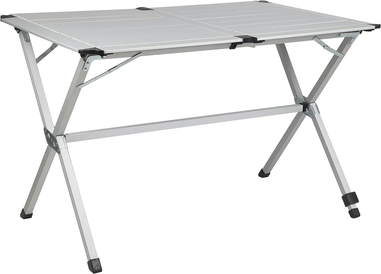 Mesa plegable sin hueco, gris, para 4 personas