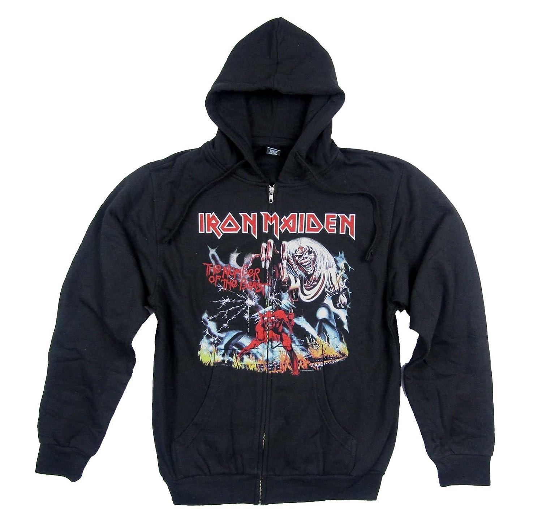 Iron Maiden Number of The Beast 666 Hell Zip Up Sweatshirt Hoodie